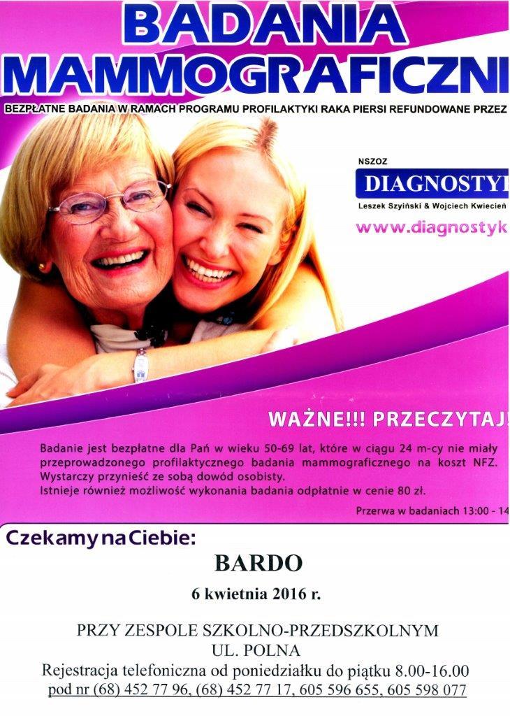 Badania Mammograficzne w Bardzie