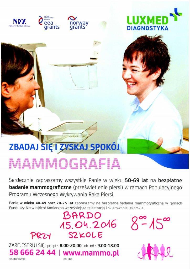 Mammografia w Bardzie 15_04_2016