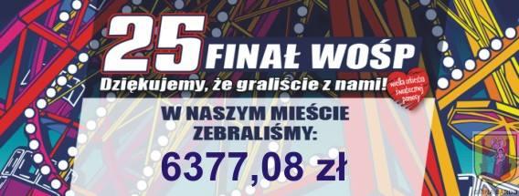 25. Finał WOŚP - zebrana kwota