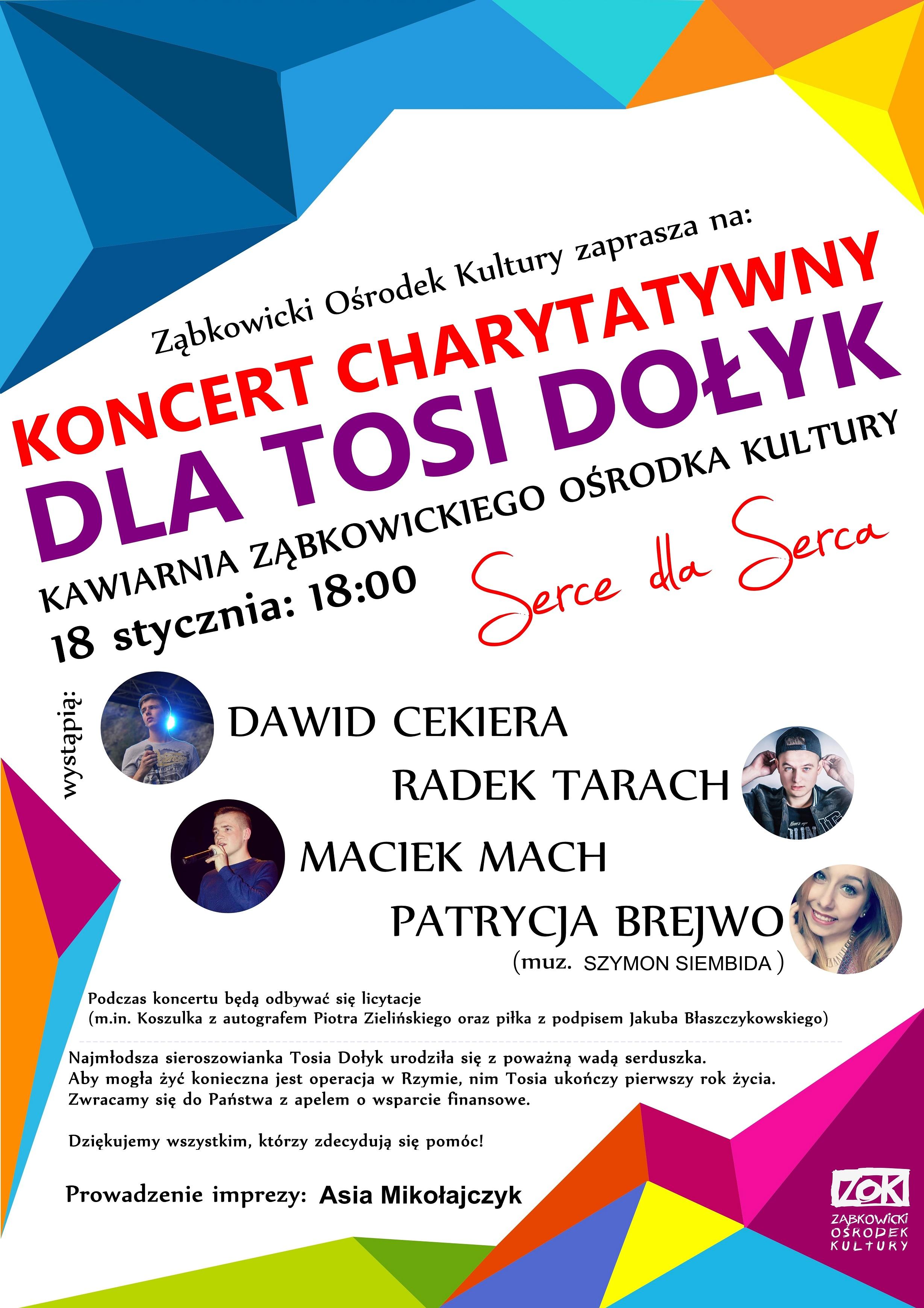 Koncert dla Tosi Dołyk 18.01