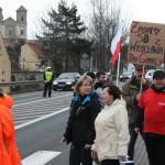 Blokada na drodze krajowej nr 8 w Bardzie (14)