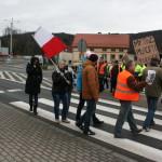 Blokada na drodze krajowej nr 8 w Bardzie (43)