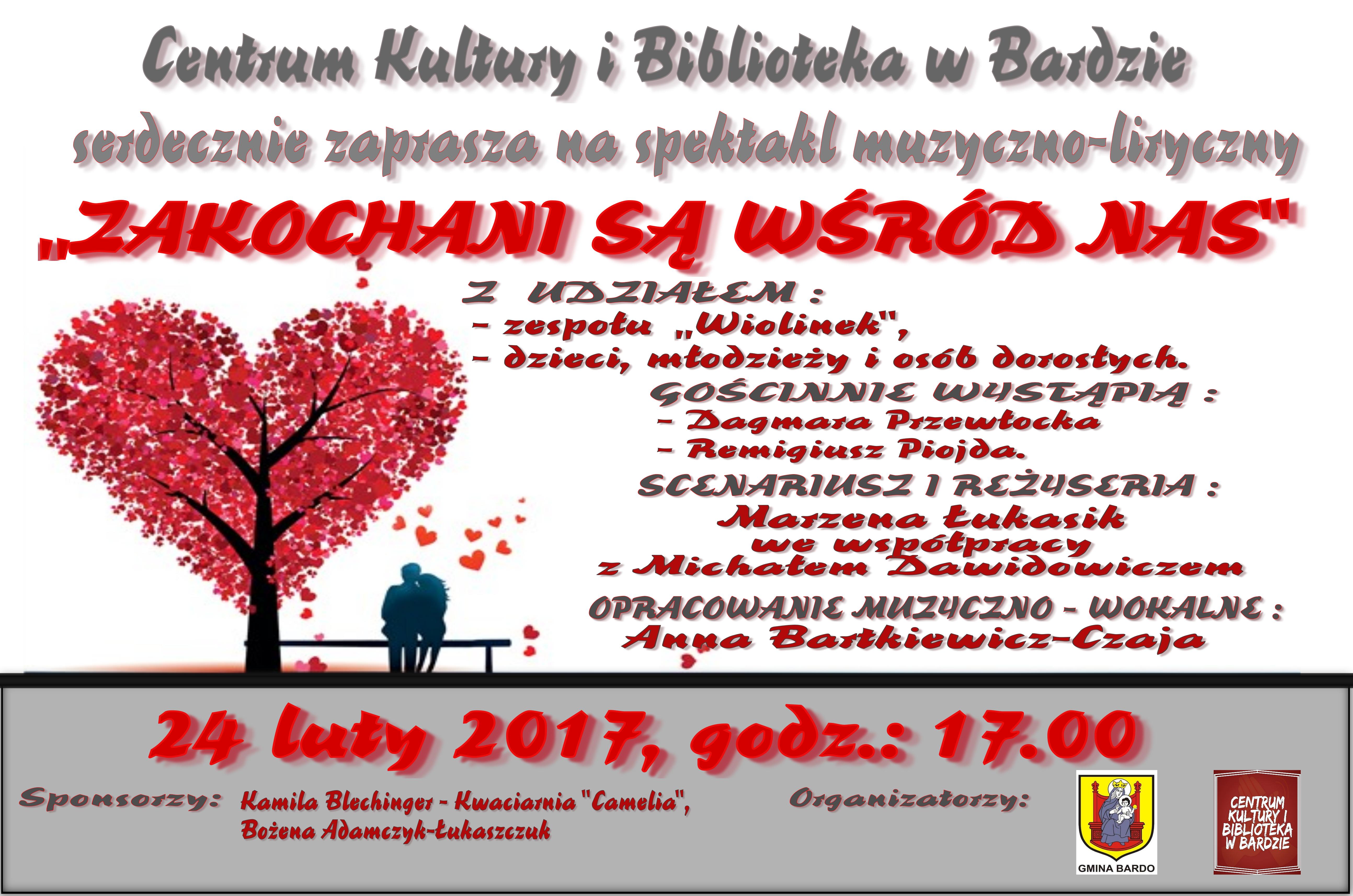 Plakat Walentynki w Bardzie