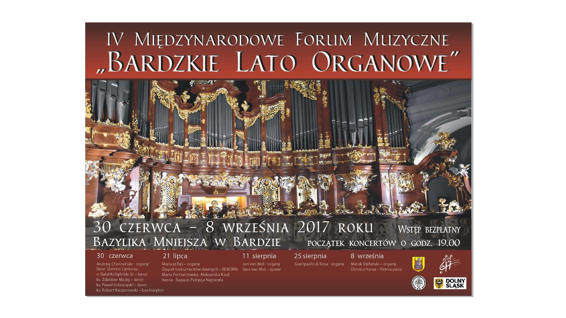plakat lato organowe 2017
