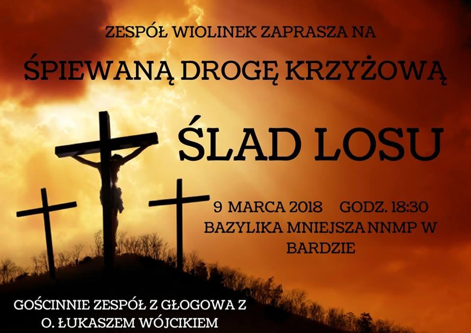 plakat droga krzyżowa wiolinek