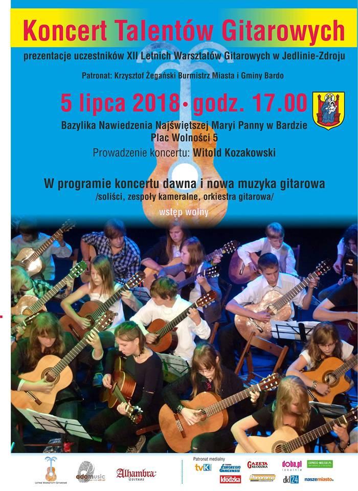 plakat koncertu w Bardzie